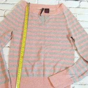 Heart-n-crush sweater pink/silver lines